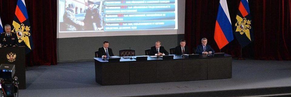 Выступление Владимира Колокольцева на заседании Совета Федерации Федерального Собрания Российской Федерации